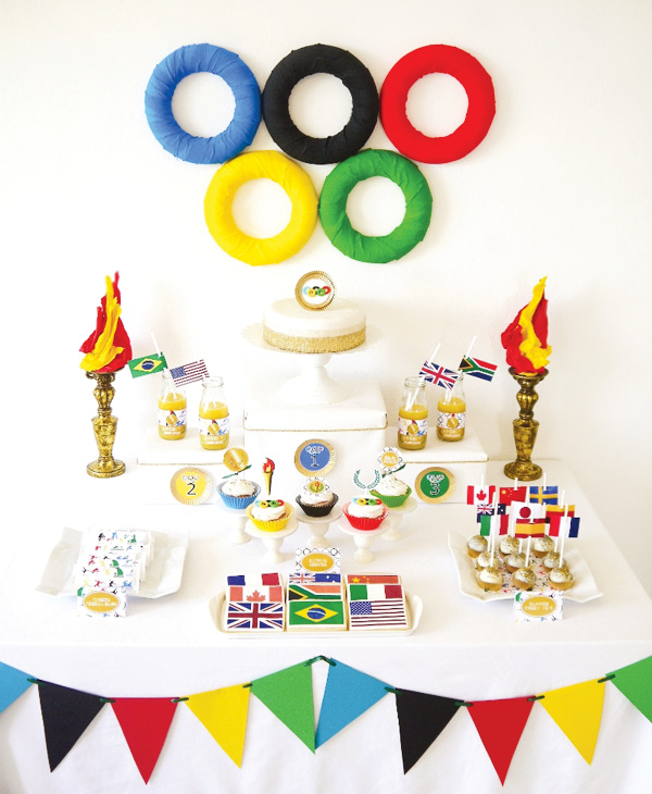summer-olympics-party-dessert-table