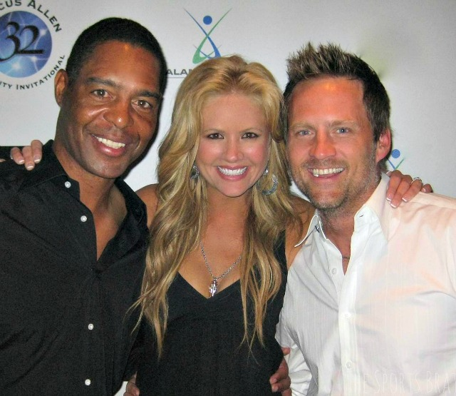 with Marcus Allen and Husband