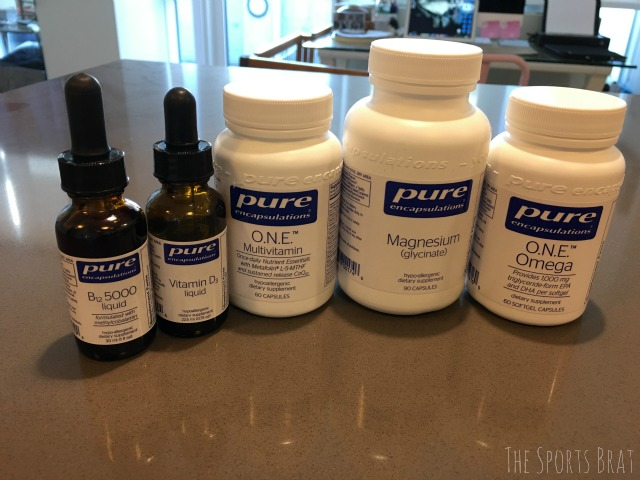 My daily Pure Encapsulations supplements